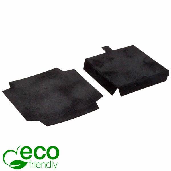 ECO Interieur voor lange oorbellen/ kleine hanger Zwart karton met zwart velours toplaag 58 x 58 x 10