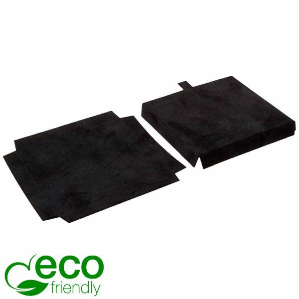 ECO Interieur voor grote hanger / armring Zwart karton met zwart velours toplaag 79 x 79 x 10