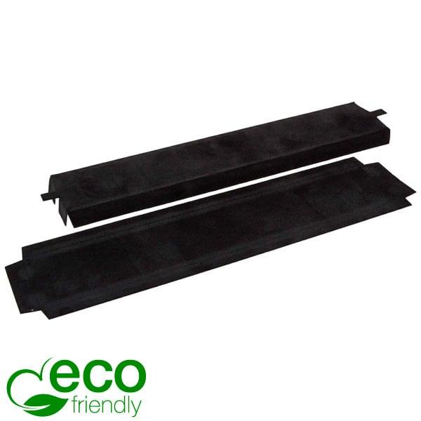 ECO Interieur voor armband / horloge Zwart karton met zwart velours toplaag 218 x 45 x 10