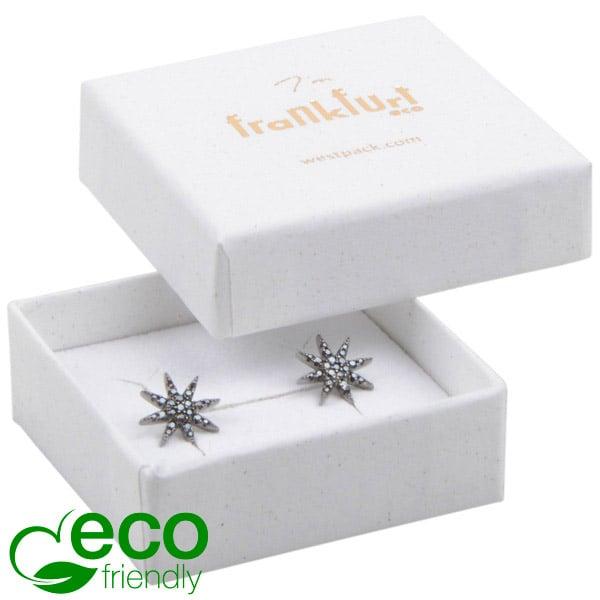 Frankfurt ECO sieradendoosje ring / oorbellen Natuur Wit FSC®-gecertificeerd / Wit-zwart foam 50 x 50 x 17