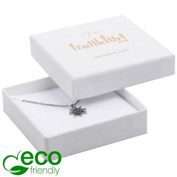 Frankfurt ECO sieradendoosje oorbellen/ hanger Natuur Wit FSC®-gecertificeerd / Wit-zwart foam 65 x 65 x 17