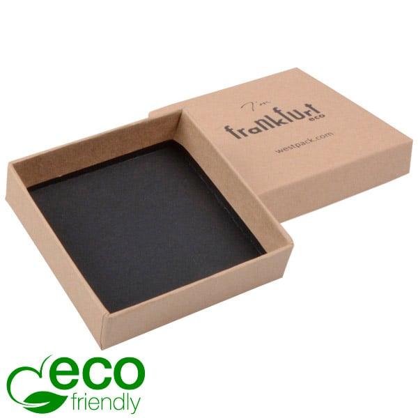 Frankfurt ECO sieradendoosje voor oorbellen/hanger Naturel FSC®-gecertificeerd karton/ Zonder insert 65 x 65 x 17