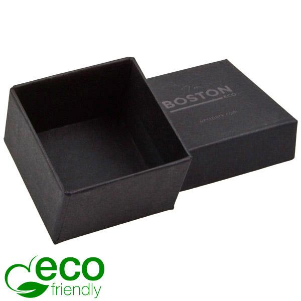Boston ECO sieradendoosje voor ring Mat zwart FSC®-gecertificeerd karton/ Zonder foam 50 x 50 x 32
