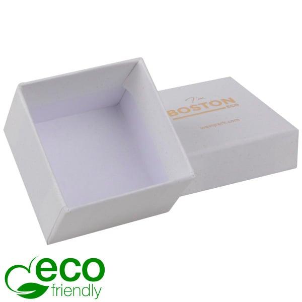 Boston ECO sieradendoosje voor ring Natuur Wit FSC®-gecertificeerd / Zonder foam 50 x 50 x 32