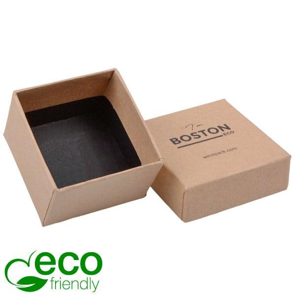 Boston ECO sieradendoosje voor ring Mat naturel FSC®-gecertificeerd karton/Zonder foam 50 x 50 x 32