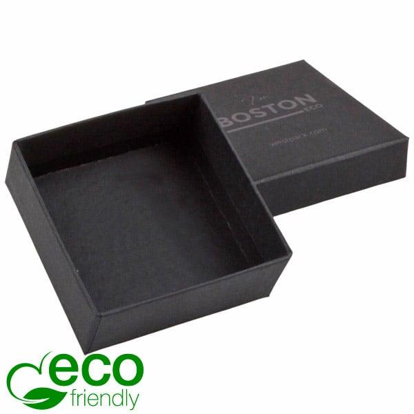 Boston Eco - Ecrins Boucles d'oreilles/ pendant Carton noir mat/ Sans mousse 65 x 65 x 25