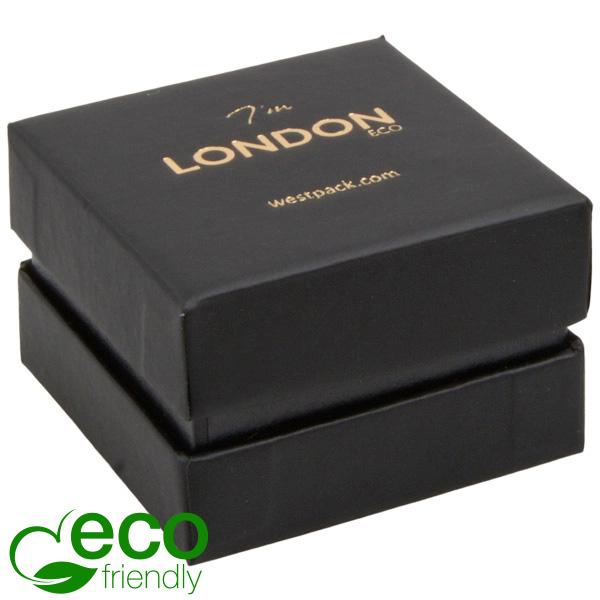 London ECO opakowania na pierścionki Czarne Soft-Touch karton/ czarna gąbka 50 x 50 x 35