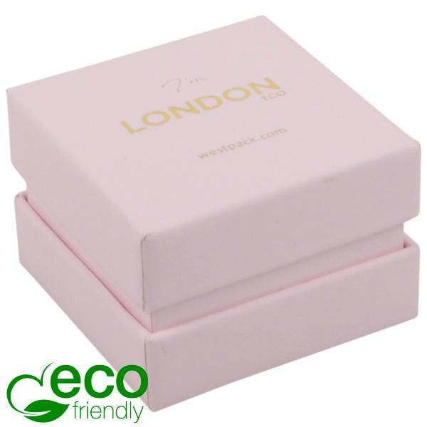 London ECO sieradendoosje voor ring Rose Soft-Touch Karton/ Rose Schuim 50 x 50 x 35