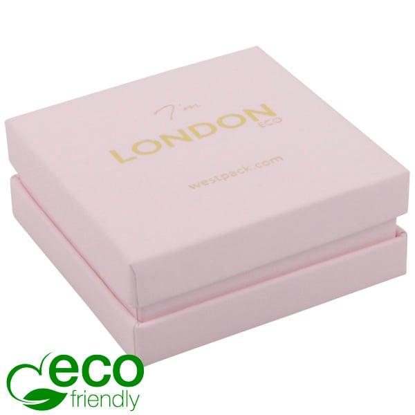 London ECO sieradendoosje voor oorbellen/hanger Rose Soft-Touch Karton/ Rose Schuim 65 x 65 x 25