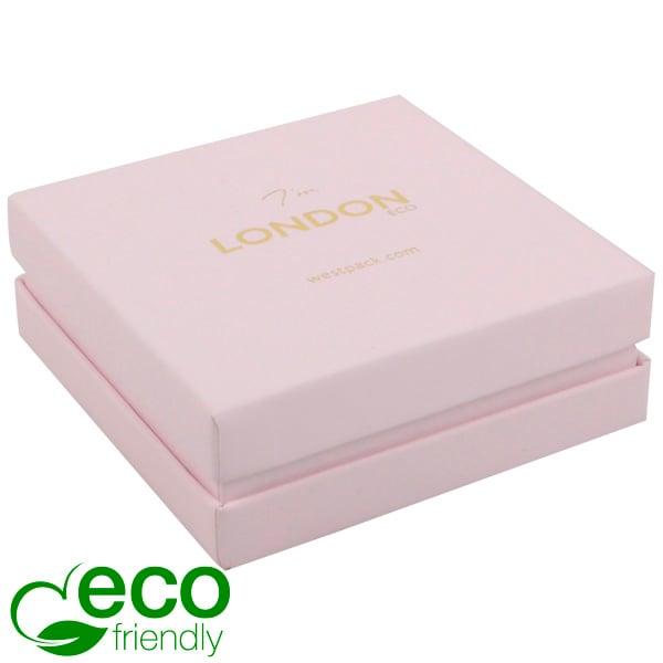 London ECO sieradendoosje armring / hanger Rose Soft-Touch Karton/ Rose Schuim 86 x 86 x 30