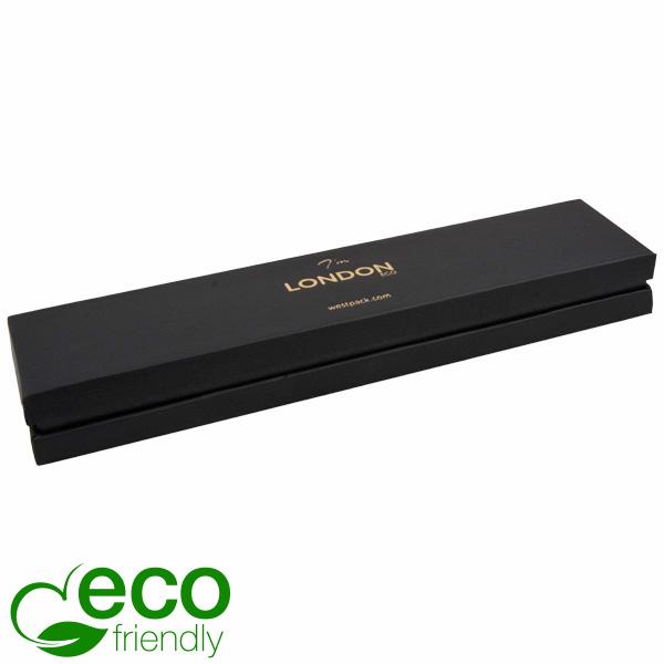 London ECO opakowania na bransoletki Czarny Soft-Touch karton/ czarna gąbka 220 x 50 x 25