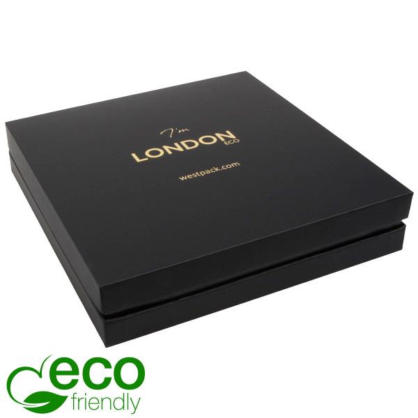 London ECO opakowania na naszyjniki Czarny Soft-Touch karton/ czarna gąbka 167 x 167 x 35
