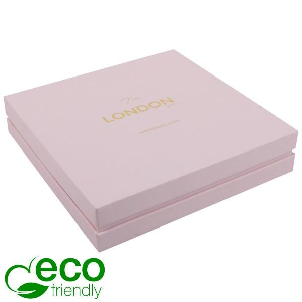 London ECO sieradendoosje voor choker / collier Rose Soft-Touch Karton/ Rose Schuim 167 x 167 x 35
