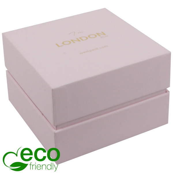 London ECO - Ecrin Montre/Bracelet Carton Rose Toucher Doux/Mousse Rose 90 x 90 x 60