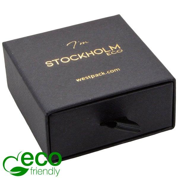 Stockholm Eco - Ecrin Boucles d'oreilles/pendant Carton noir texturé / Mousse Noire 65 x 65 x 30