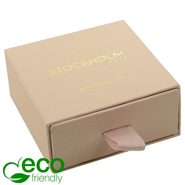 Stockholm Eco - Ecrins Boucles d'oreilles/pendant Carton beige chaud texturé / Mousse Noire 65 x 65 x 30