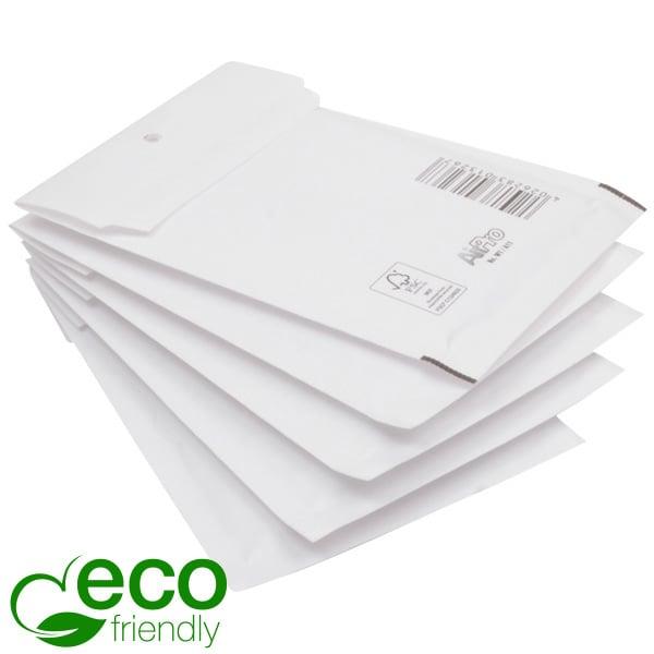 100x Miljövänlig Bubbelkuvert, mellan Vita kuvert med bubbelplast 273 x 200 x 4