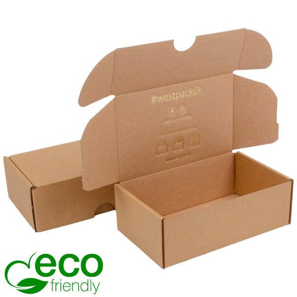 ECO Postal Box, 185x109x62mm Plain Brown Cardboard 185 x 109 x 62