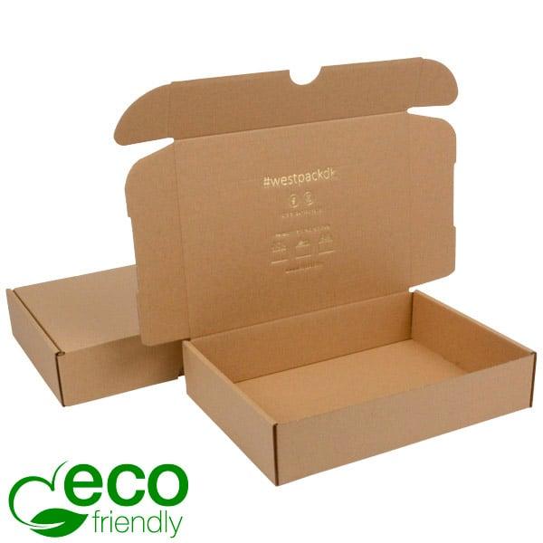 ECO Postal Box, 245x175x52mm Plain Brown Cardboard 245 x 175 x 52