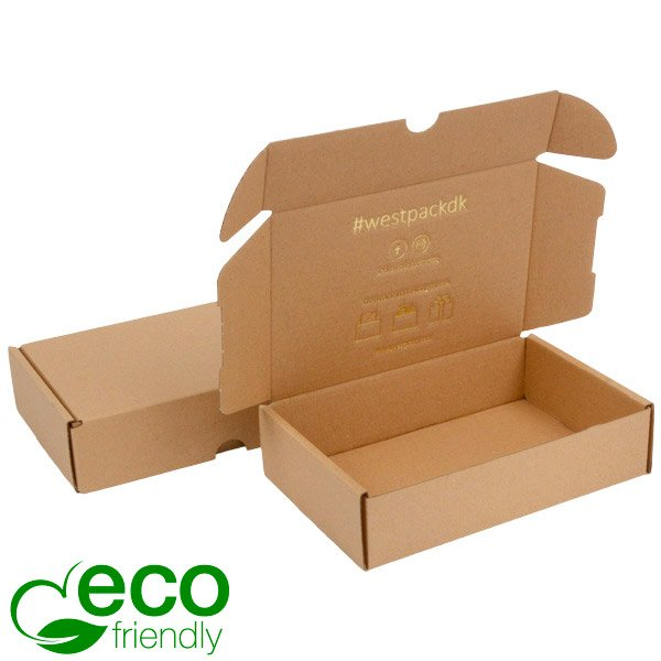 ECO Postal Box, 183x116x44mm Plain Brown Cardboard 183 x 116 x 44