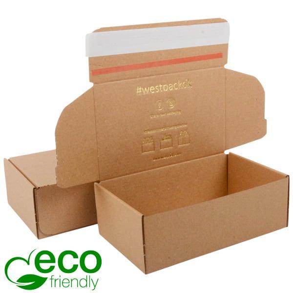ECO Postdoosje, 188x111x64 mm Naturel karton met tapesluiting 188 x 111 x 64