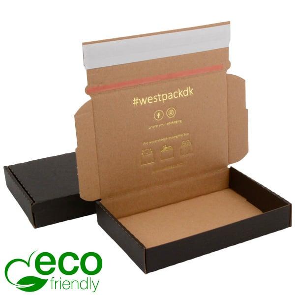 ECO Postdoosje Briefpost, 177x118x29mm Zwart/naturel karton met tapesluiting 177 x 118 x 29