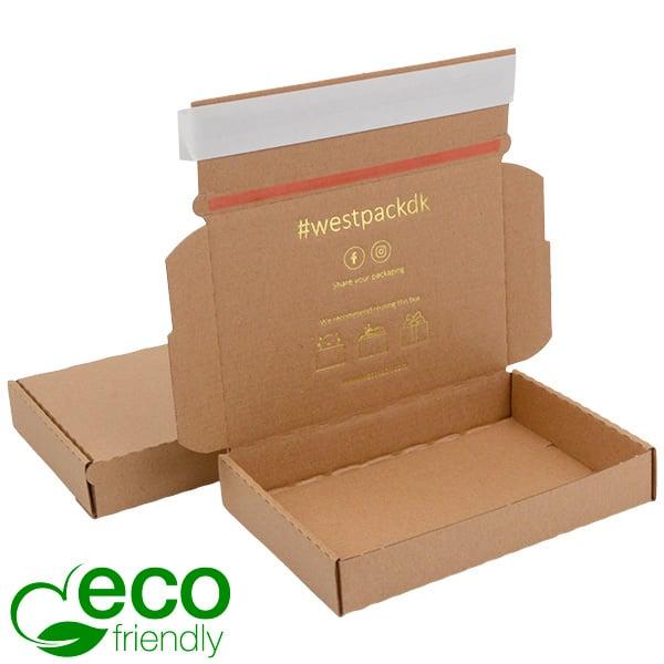 ECO Postdoosje Briefpost, 177x118x29mm Naturel karton met tapesluiting 177 x 118 x 29