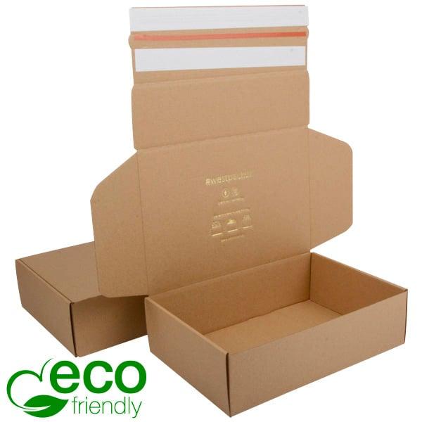 ECO Postdoosje, 270x182x75 mm Naturel karton met 2 x tapesluiting 270 x 182 x 75