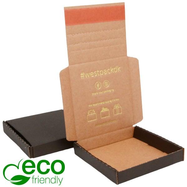 ECO Postdoosje Briefpost, 120x120x22 mm Zwart karton met tapesluiting 120 x 120 x 22