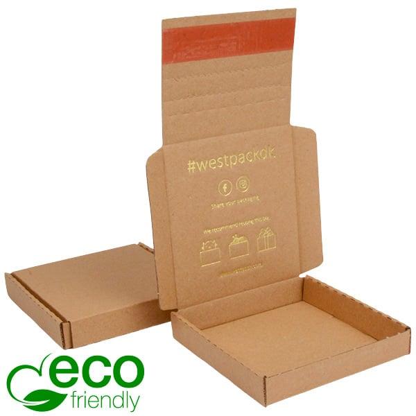 ECO Postdoosje Briefpost, 120x120x22 mm Naturel karton met tapesluiting 120 x 120 x 22