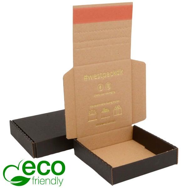 ECO Postdoosje Briefpost, 120x120x29 mm Zwart karton met tapesluiting 120 x 120 x 29