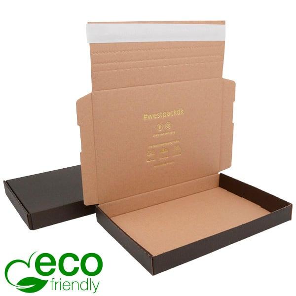 ECO Postdoosje Briefpost, 245x175x29 mm Zwart karton met tapesluiting 245 x 175 x 29