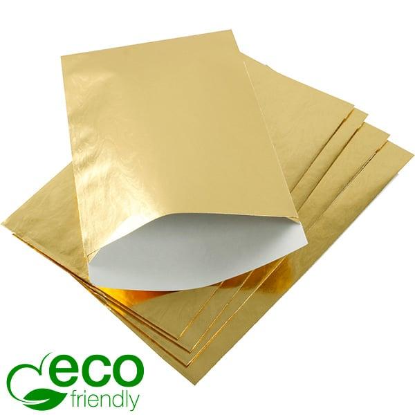 Sieradenzakjes medium, 500 st. Goudkleurig papier 120 x 180 76 gsm
