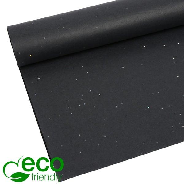 Milieuvriendelijk Zijdevloeipapier, 240 vellen Met glitters, Zwart 700 x 500 17 gsm