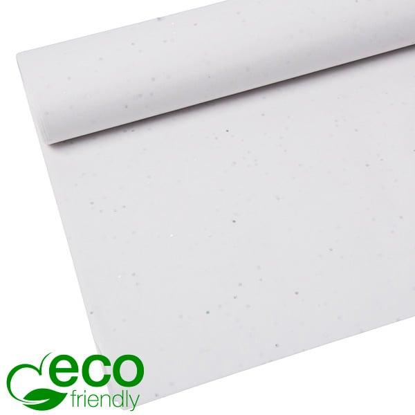 Milieuvriendelijk Zijdevloeipapier, 240 vellen Met glitters, Wit 700 x 500 17 gsm