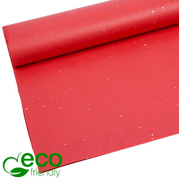 Milieuvriendelijk Zijdevloeipapier, 240 vellen Met glitters, Rood 700 x 500 17 gsm
