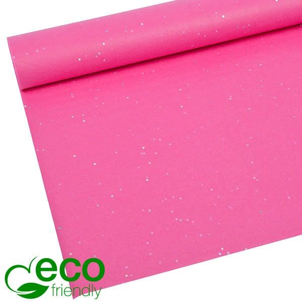 Milieuvriendelijk Zijdevloeipapier, 240 vellen Met glitters, Pink 700 x 500 17 gsm