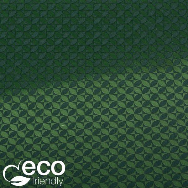 Milieuvriendelijk cadeaupapier nº 1665 ECO Donkergroen papier met grafische print  40 cm - 100 m