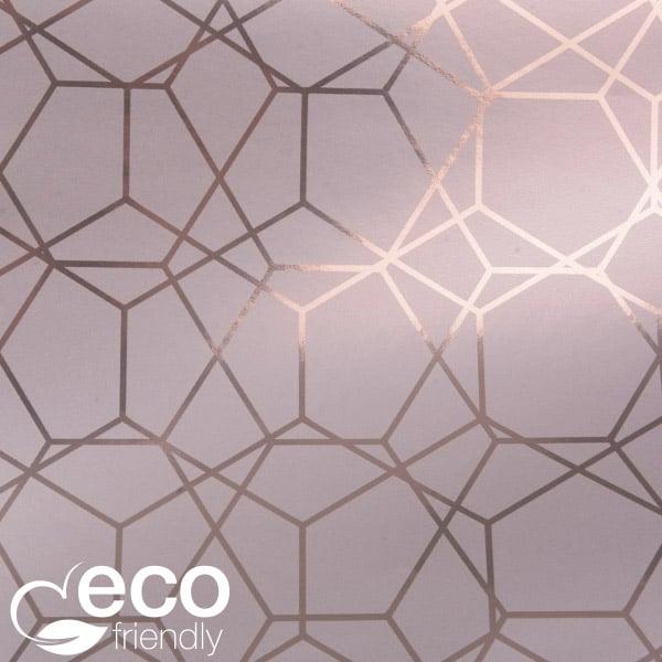 Papier Cadeau Écologique nº 7350 ECO Papier rose avec impression graphique   50 cm - 100 m