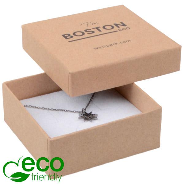 Achat en gros: Boston Eco écrin pour BO/ pendentif Carton naturel / Intérieur mousse blanche 65 x 65 x 25