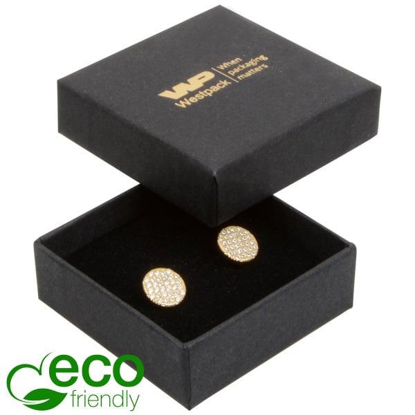 Grootverpakking -  Frankfurt Eco doosje voor ring Zwart karton / Zwart foam 50 x 50 x 17