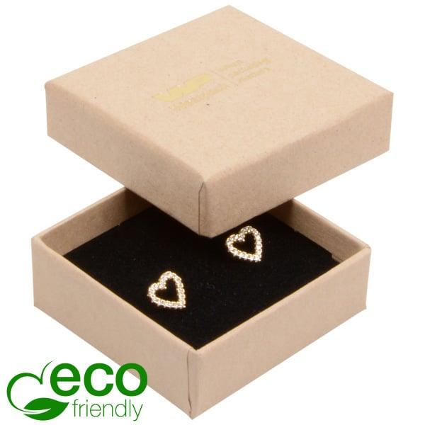 Achat en gros: Frankfurt Eco écrin pour bague Carton naturel / Intérieur mousse noire 50 x 50 x 17