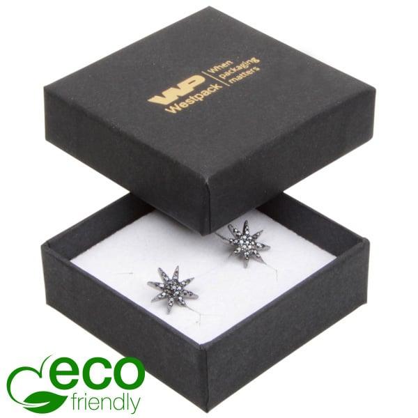 Grootverpakking -  Frankfurt Eco doosje voor ring Zwart karton / Wit foam 50 x 50 x 17