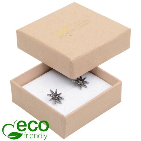 Grootverpakking -  Frankfurt Eco doosje voor ring Naturel karton / Wit foam 50 x 50 x 17