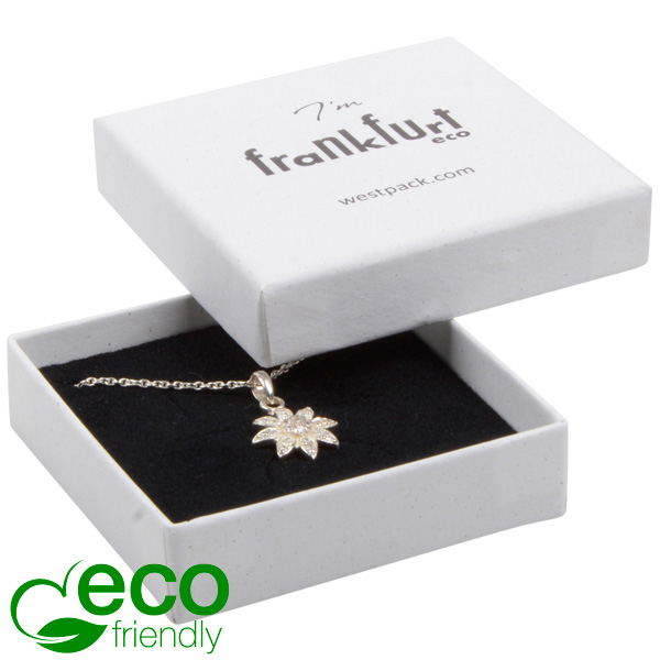 Grootverpakking -  Frankfurt ECO doosje hanger Natuur Wit FSC®-gecertificeerd / Zwart foam 65 x 65 x 17