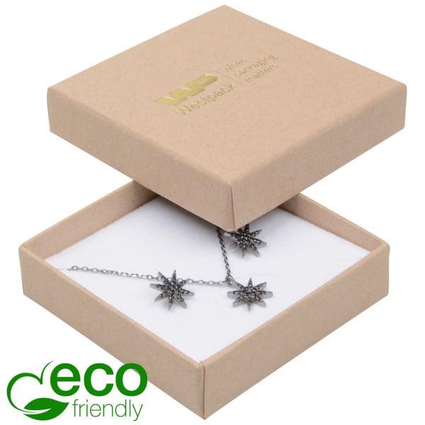Grootverpakking -  Frankfurt Eco doosje hanger Naturel karton / Wit foam 65 x 65 x 17