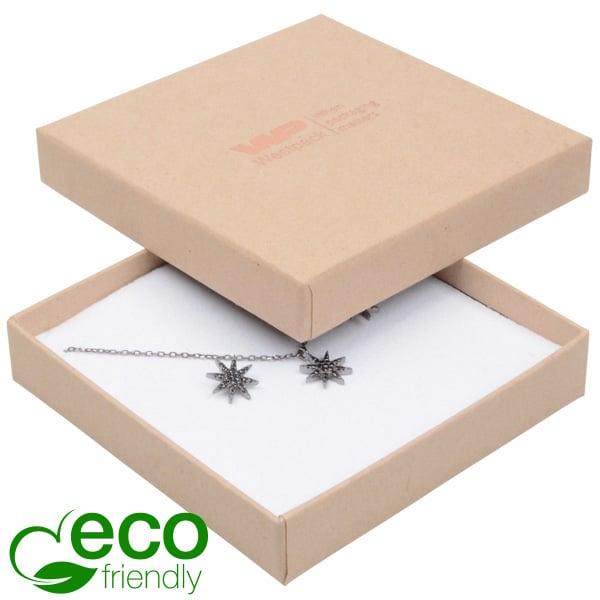 Grootverpakking -  Frankfurt Eco doosje universeel Naturel karton / Wit foam 86 x 86 x 17