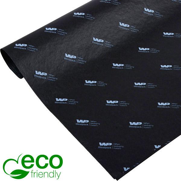 ECO Zijdevloeipapier m/bedrukking, kleine vellen Zwart met wit bedrukking 350 x 500 17 gsm