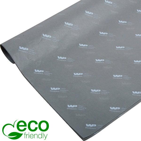 ECO Zijdevloeipapier m/bedrukking, kleine vellen Grijs met wit bedrukking 350 x 500 17 gsm