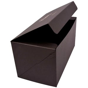 Plano 1000 Large Flat-packed Gift Box, 230 mm Matt black cardboard 230 x 120 x 120